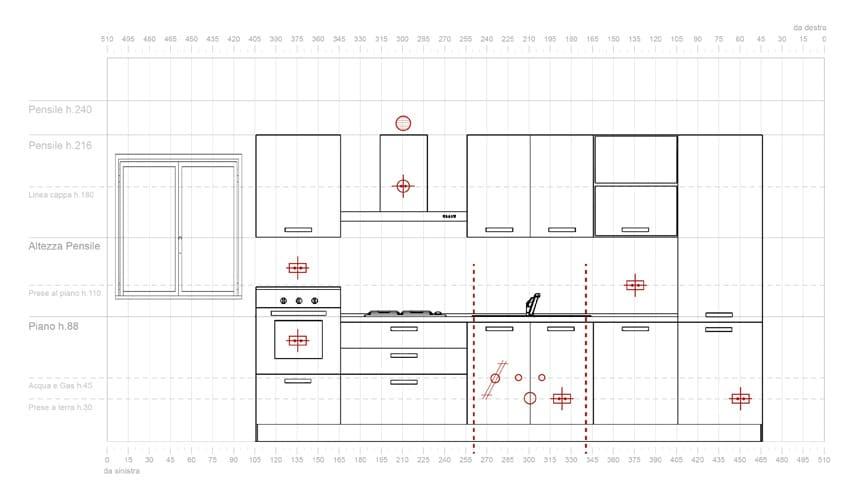Che ingombri ha una cucina? • CaMa Studio Design
