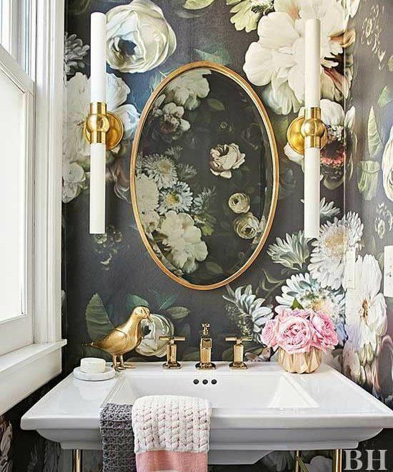 Sala da bagno floreale cama studio design for Sala da bagno design